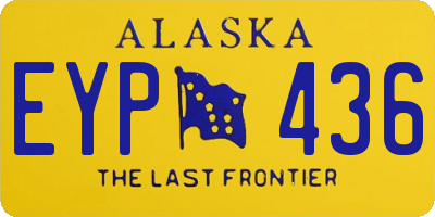 AK license plate EYP436
