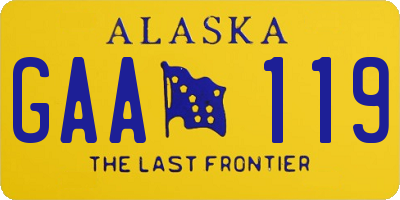 AK license plate GAA119