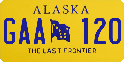 AK license plate GAA120