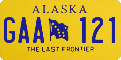 AK license plate GAA121