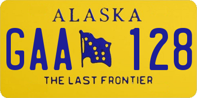 AK license plate GAA128