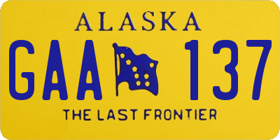 AK license plate GAA137