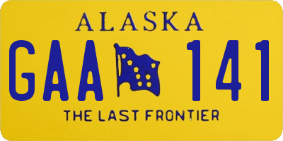 AK license plate GAA141