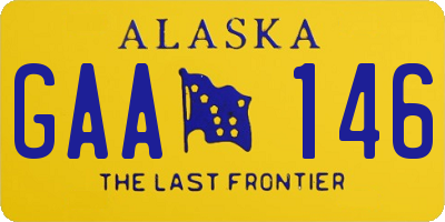 AK license plate GAA146