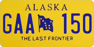 AK license plate GAA150