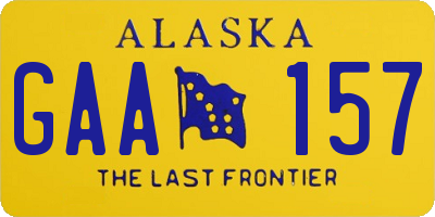 AK license plate GAA157