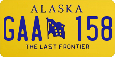 AK license plate GAA158