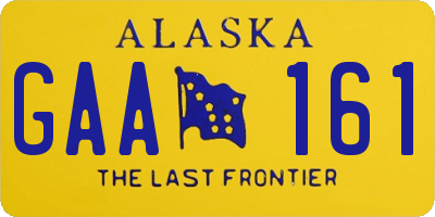 AK license plate GAA161