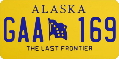AK license plate GAA169