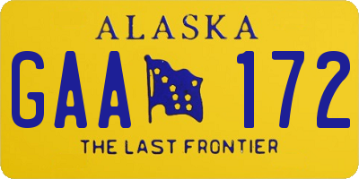 AK license plate GAA172
