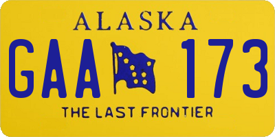 AK license plate GAA173