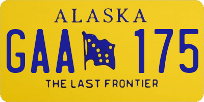 AK license plate GAA175