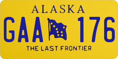 AK license plate GAA176