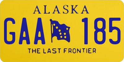 AK license plate GAA185