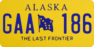 AK license plate GAA186