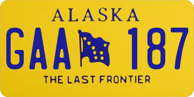 AK license plate GAA187