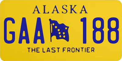 AK license plate GAA188