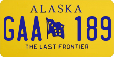 AK license plate GAA189