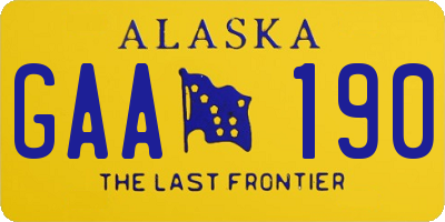 AK license plate GAA190