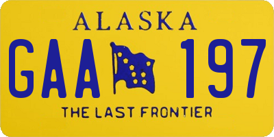AK license plate GAA197