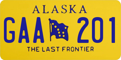 AK license plate GAA201