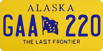 AK license plate GAA220