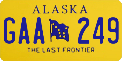 AK license plate GAA249
