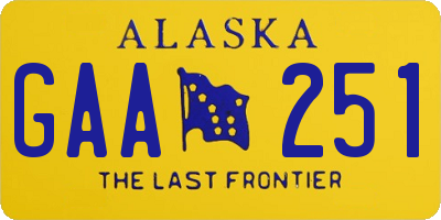 AK license plate GAA251