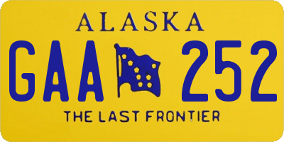 AK license plate GAA252