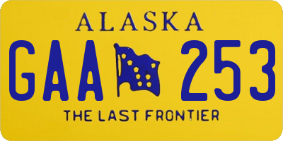 AK license plate GAA253