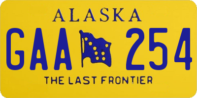 AK license plate GAA254