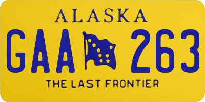 AK license plate GAA263