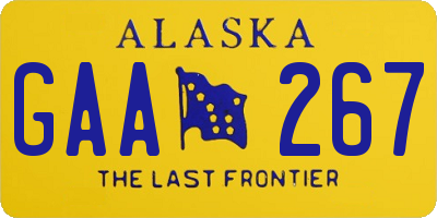 AK license plate GAA267