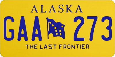 AK license plate GAA273