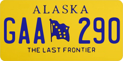 AK license plate GAA290