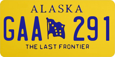 AK license plate GAA291