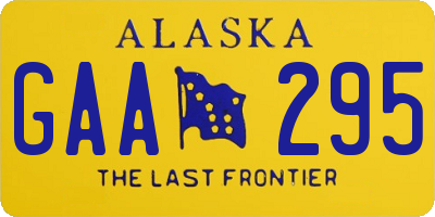 AK license plate GAA295