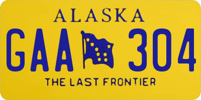 AK license plate GAA304
