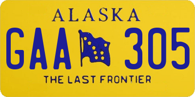 AK license plate GAA305