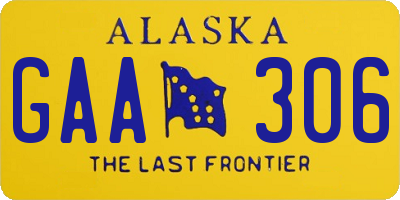 AK license plate GAA306