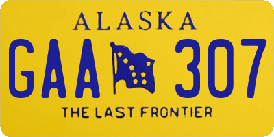 AK license plate GAA307