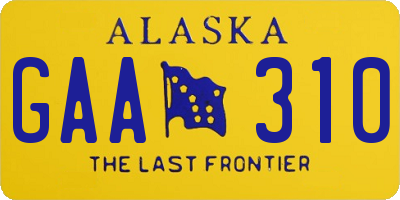 AK license plate GAA310