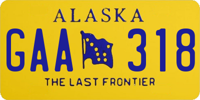 AK license plate GAA318