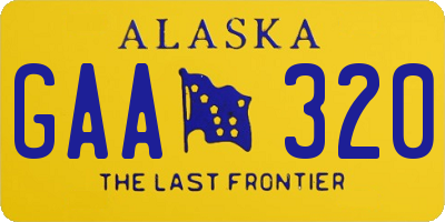 AK license plate GAA320
