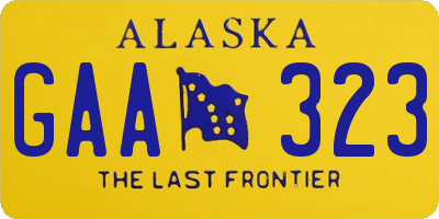 AK license plate GAA323