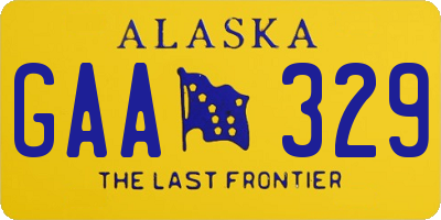 AK license plate GAA329