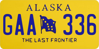 AK license plate GAA336