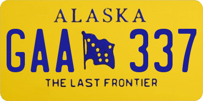 AK license plate GAA337