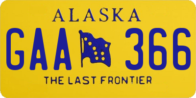 AK license plate GAA366
