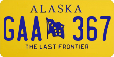 AK license plate GAA367
